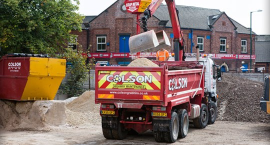 Colson Sadlers Waste - grab hire nottingham