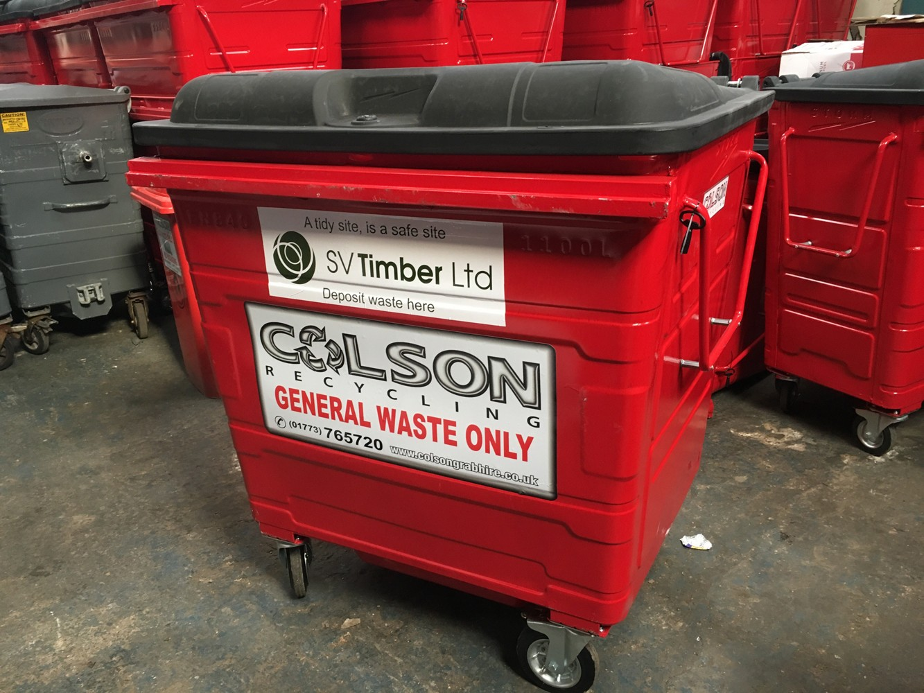 Colson Sadlers Waste - commercial waste bin