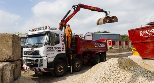 Colson Transport - Grab Hire lorry Derby Nottingham Leicester Ryan Colson