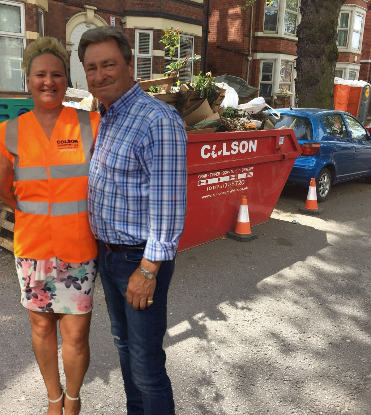 colson transport skip nottingham with alan titchmarsh