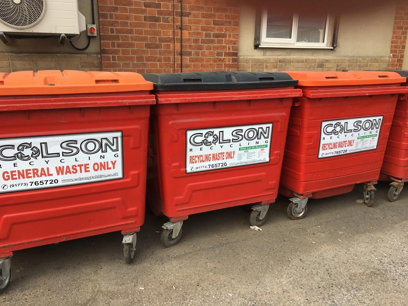 business waste recycling bins colson transport