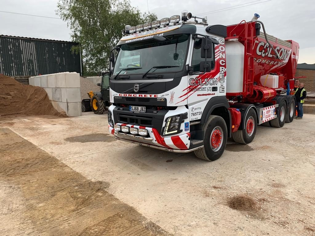 ready mix concrete truck in nottingham